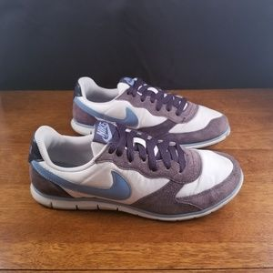Women's Nike Casual White and Blue Shoes